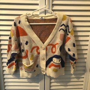 Kids intarsia cardigan sweater